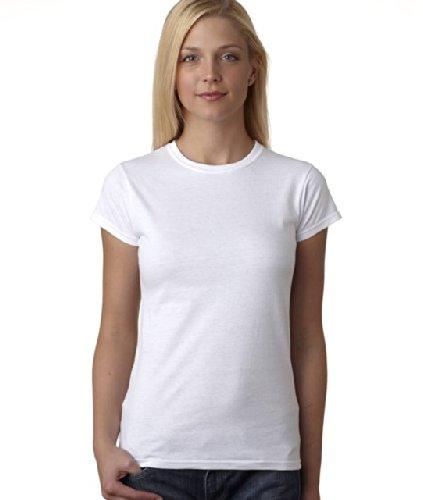 (Gildan Ladies Soft Style Short Sleeve T-Shirt (L) (White))