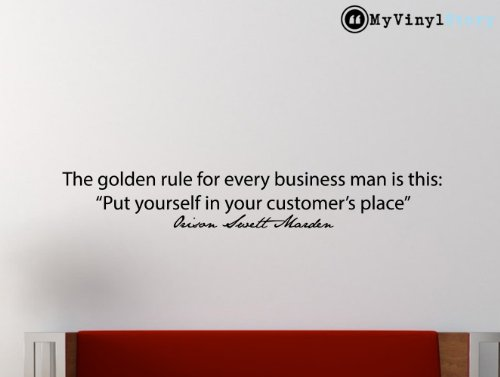 """Orison Swett Marden Inspirational Business Quote Wall Decal """"The Golden Rule"""" 48x7.2 Inches"""