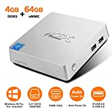 ACEPC T11 Mini PC,Windows 10 Pro Intel Atom x5-Z8350 Fanless Desktop Computer,4GB DDR3/64GB eMMC, Support 2.5-Inch SATA III Internal SSD/HDD,4K HD,2.4/5G WiFi,1000M LAN,HDMI/VGA Output,Auto Power On