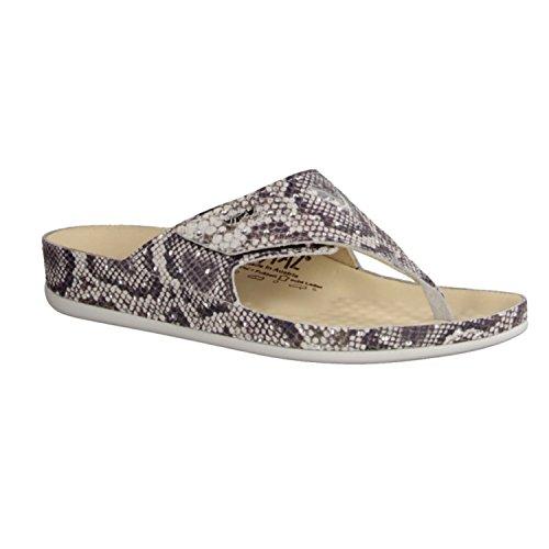Vital 0902–7404–Chaussures Femme Pantolette/séparateurs d', beige, cuir
