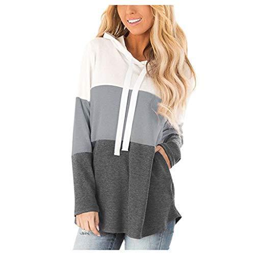 Womens Casual Long Sleeve Cartoon Cat's Print Cute T-Shirt Sweatshirt Tops Pullover Street Blouses (S-2XL)