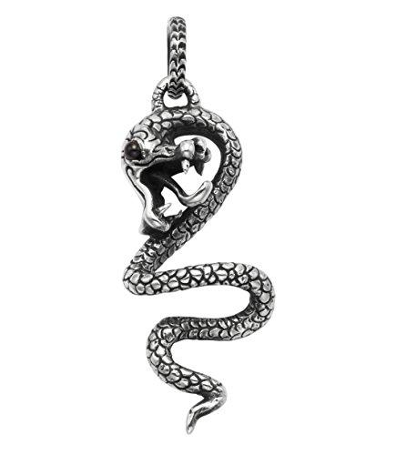(WTS Sterling Silver Slithering Snake Pendant)