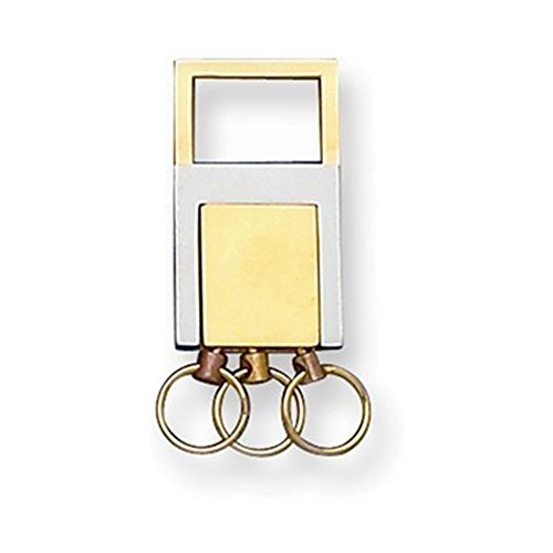 Jewelry Adviser Gifts Gold-tone and Silver-tone Valet Key Ring -