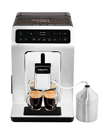 KRUPS EA89 Deluxe One-Touch Super Automatic Espresso and Cappuccino Machine, 15 Fully Customizable Drinks,Gray by KRUPS (Image #1)