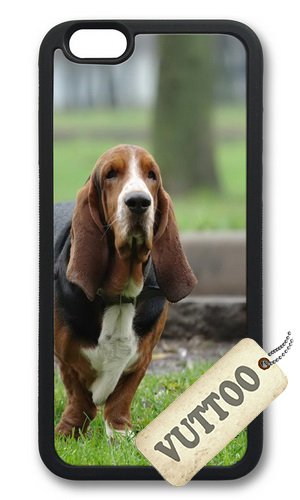 iPhone 6 Plus Case,VUTTOO Stylish Basset Hound Hunting Dog Soft Case For Apple iPhone 6 Plus (5.5 Inch) - TPU Black