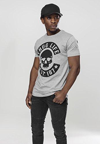 Thug Life Skull Tee MT383 Grey, Größe:L