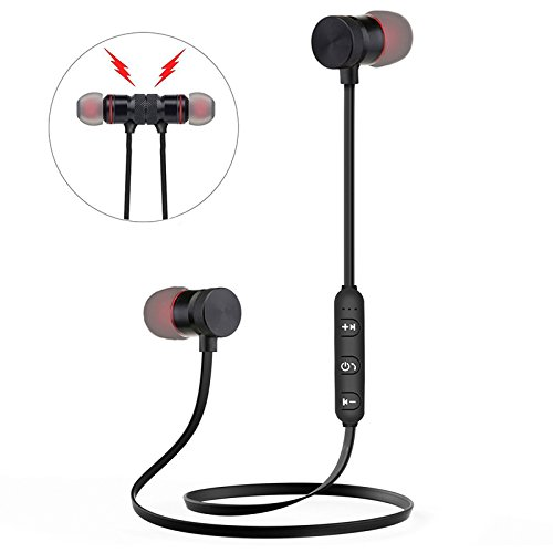 Fashion Sport Bluetooth Earphone Wireless In-Ear Noise Reduction Sweat proof Stereo Headset with Mic for Sport, Gym…