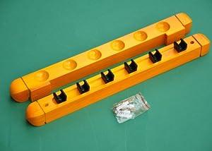 Queue-Wandhalterung für 6 Poolbillard-/ Snookerqueues  - 10801
