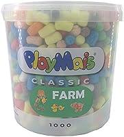 PlayMais Basic Bastelset für Kinder ab 3 Jahren | Basteleimer Basteln | Natürliches Spielzeug | Fördert Kreativität &...