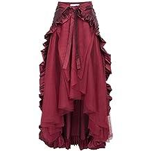 GK Vintage Dress GK Steampunk Retro Victorian Punk Cincher Lace up Long Ruffle Pencil Skirt