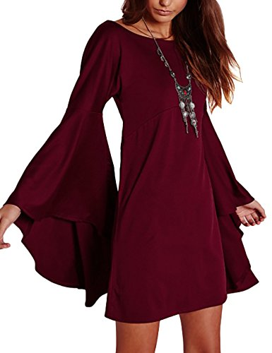 Buy bell bottom sleeve dress - 2