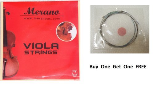 Merano 12'' 11'' 10'' VIOLA String Set (C-G-D-A) - Buy One Get One FREE ~ Beginner, Student, Replacement by Merano