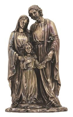 Holy Family Bronze - Veronese Collection Holy Family 10 Inch Bronze Statue