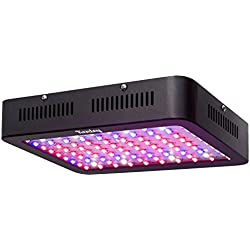 Kenley 300W LED Grow Light for Indoor Plants, Seedlings, Herbs, Veg - Full Spectrum Red Blue Lighting - Reflector Kit Fixture System with Hangers for Growing & Flowering in Greenhouse Hydroponic Tent