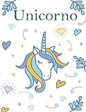 unicorno: Quaderno A4 grande formato,ufficio e