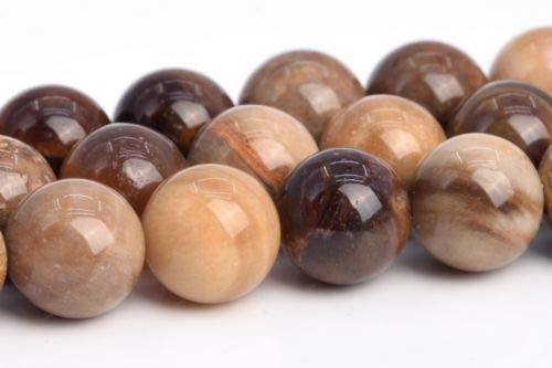 8mm Genuine Natural Brown Petrified Wood Jasper Round Loose Beads 15.5'' Crafting Key Chain Bracelet Necklace Jewelry Accessories Pendants