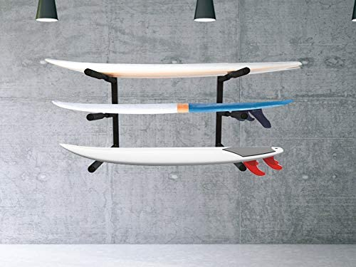 Onefeng Sports 65LB Surfboard Stand Aluminum SUP Ground Storage Rack Display Stand Rack Two Storage Options for Any Sized Surfboards,SUP and Paddelboards