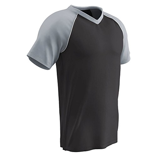 (CHAMPRO Bunt Light Weight Mesh Jersey Black, Silver, White Youth L BS35 BS35YBSIWL)