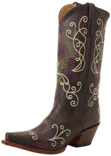 (Tony Lama Women's VF3039 Boot,Espresso Tucson,5.5 B US)