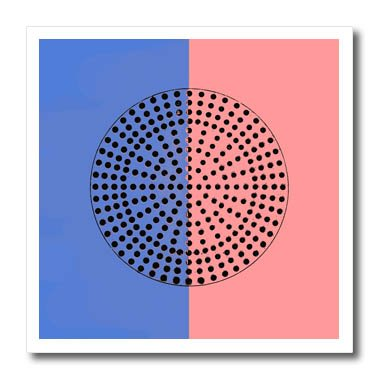 3dRose Alexis Photography - Abstracts - Image of metal perforated circle. Black hole sun. Blue, pink colors - 6x6 Iron on Heat Transfer for White Material (ht_283996_2)