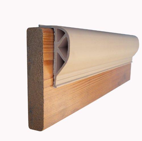 Dock Edge + Inc. ProDock Commercial Grade Dock Bumper Profile Heavy Slant P, 3-8-Feet Sections (24-Feet, Beige)