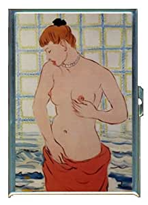 RENE MAGRITTE THE PEBBLE TOPLESS ID Holder Cigarette Case or Wallet: Made in USA