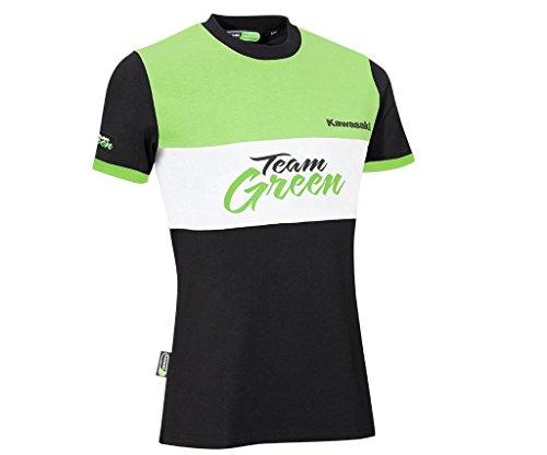 Kawasaki TEAM GREEN kurzarm Damen T-Shirt ! schwarz grün weiß