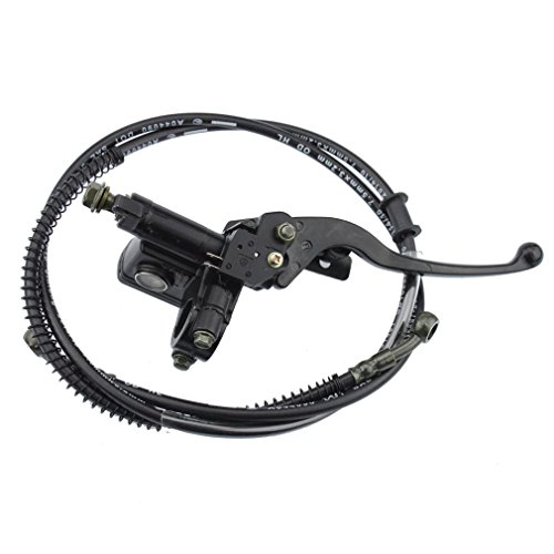 GOOFIT Hydraulic Brake Master Cylinder Brake Lever Handle with Cable for 50cc 70cc 90cc 110cc 125cc 150cc Chinese ATV Quad