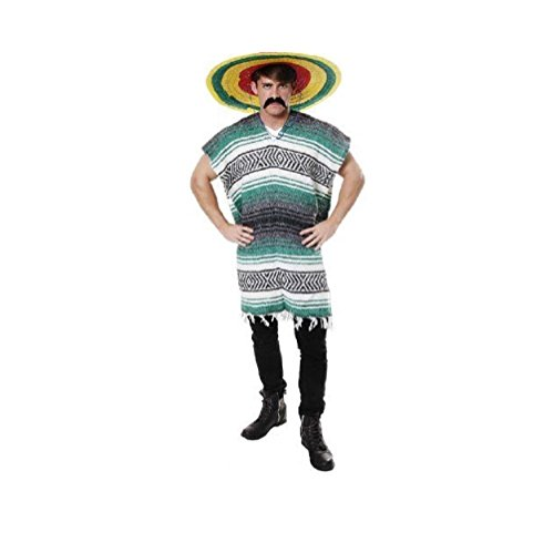 [Poncho Clint Eastwood Light Weight (Green)] (Clint Eastwood Costume Poncho)