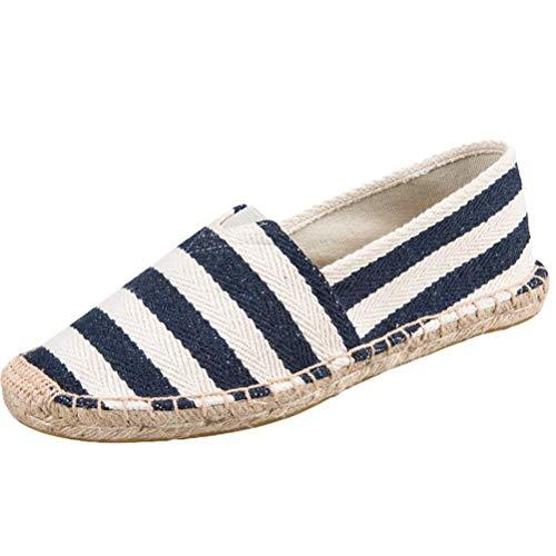 Unisexe 1 Taille Espadrilles Sport blue De Plates En Toile coloré Chaussures 2 Uk Respirante Qiusa Style qEOPa0xY7w