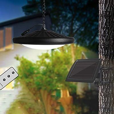 Huhua - Lámpara de jardín con mando a distancia solar de 20 ledes ...