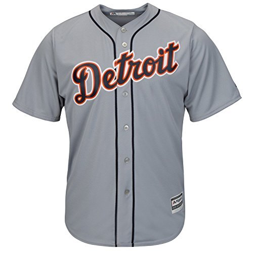 - Detroit Tigers Youth Cool Base Team Road Jersey Gray (Youth Xlarge 18/20)