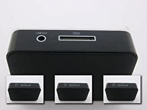 Producto nuevo en color negro para base de carga portátil soporte cargador de mesa con soporte de 3,5 mm de línea audio para Apple iPhone 5 (de iPhone 4 A iPhone 5)
