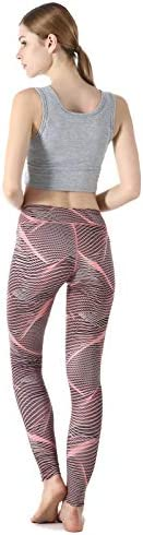 ZOANO High Waisted Printed Yoga Pants for Women Workout Leggings Running Pants 6