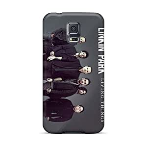 Best Hard Phone Covers For Samsung Galaxy S5 With Allow Personal Design High-definition Linkin Park Band Pattern JamieBratt