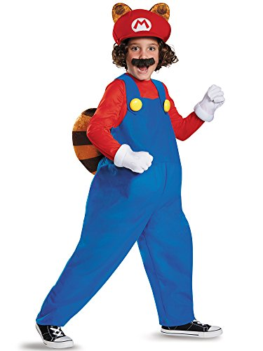 Mario Raccoon Deluxe Super Mario Bros. Nintendo Costume, Medium/7-8 -
