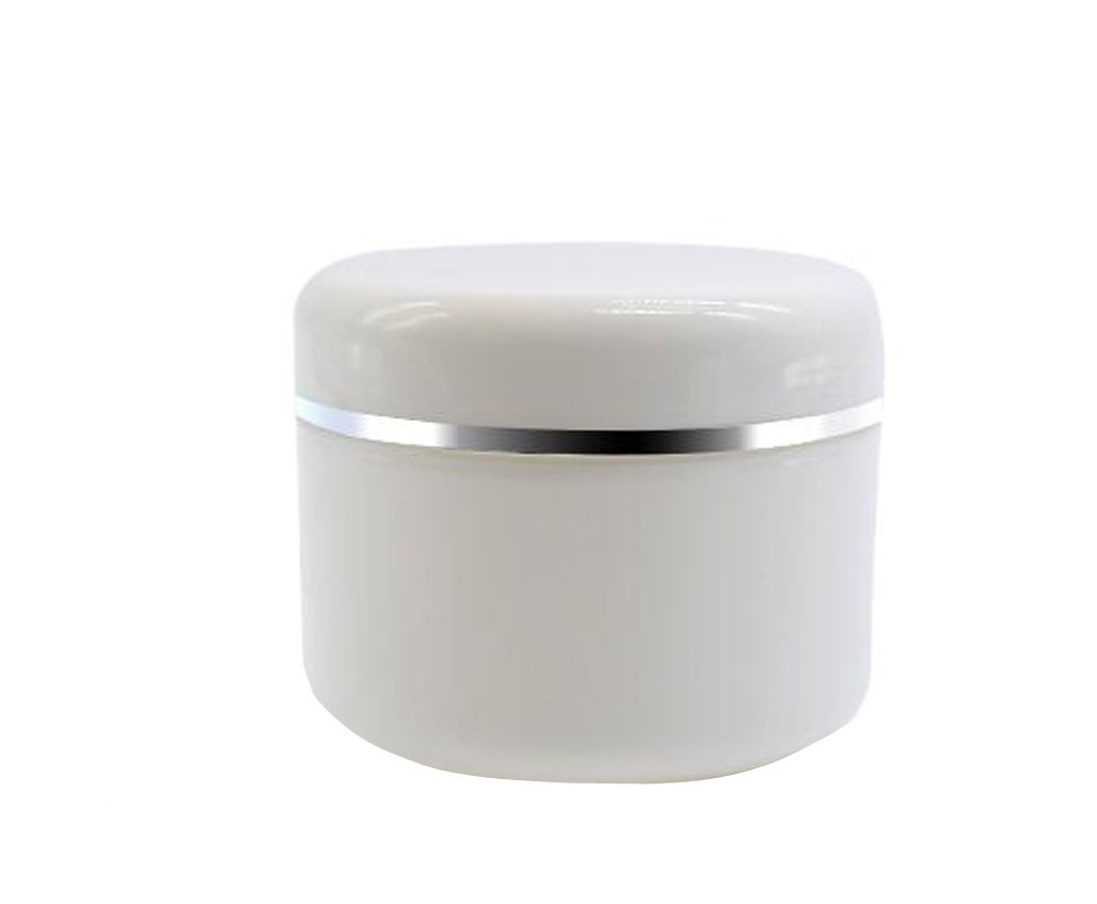 White Plastic Jar with Dome Lid 8 Oz (250g) Refillable Make-up Cosmetic Jars Empty Face Cream Lip Balm Lotion Storage Container Pot Case (Pack of 6) erioctry