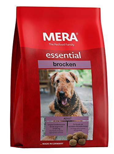 MERA essential Hundefutter > Brocken < Für ausgewachsene Hunde – Geflügel Trockenfutter mit extra großen Kroketten…