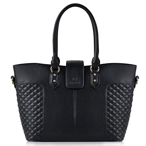 Fanspack Women's PU Leather Tote Bag Lattice Pattern Top Handle Tote Handbags Crossbody Shoulder Bag Purses and Handbags by Fanspack (Image #7)