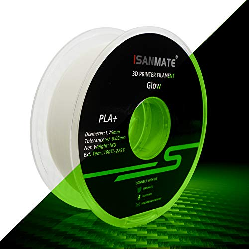 iSANMATE's 3D Printer Filament, PLA Filament 1.75 mm Dimensional Accuracy +/- 0.02 mm, 1 KG Spool