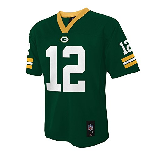 NFL Youth Boys 8-20 MID-TIER JERSEY -TMC RODGERS A. PACKERS Hunter S (8)