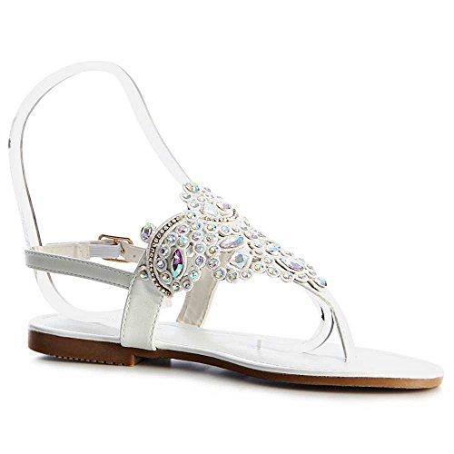 Sandales Sandales topschuhe24 Sandales Femmes Femmes Sandalettes Blanc Femmes topschuhe24 Blanc topschuhe24 Sandalettes gIntAwWqR