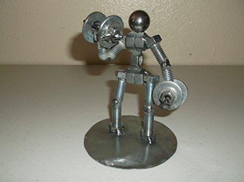Figurine Weight (Dumbbell Weight Lifter Metal Bolt Figurine)