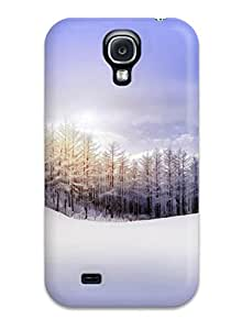 Tpu Case Cover For Galaxy S4 Strong Protect Case - Winter Design