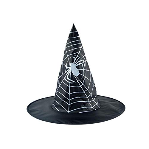 Adult Women's Black Witch Hat for Halloween Costume Accessory Cap Hats Props Halloween Parties,B]()