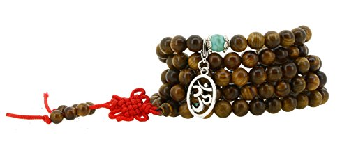108 Tibetan Wooden Yoga Meditation Prayer Beads Mala Necklace Wrap Bracelet (Wooden Monk Beads)