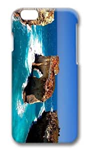 MOKSHOP Adorable Coast Island Rock Hard Case Protective Shell Cell Phone Cover For Apple Iphone 6 (4.7 Inch) - PC 3D