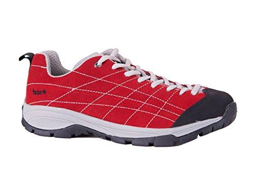 Izas Cadier - Zapatillas de trekking para hombre Rojo