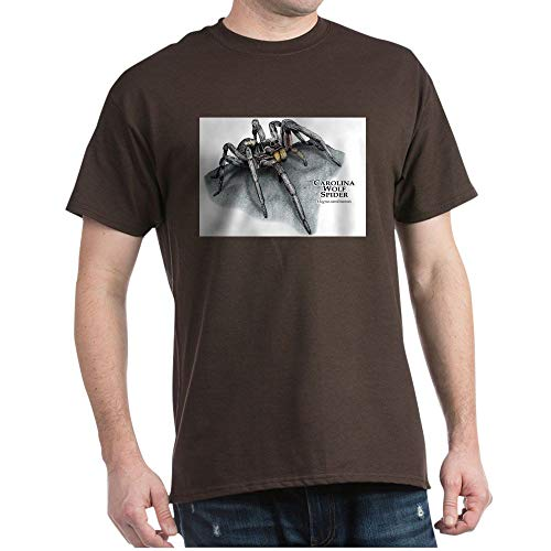 CafePress Carolina Wolf Spider Dark T Shirt 100% Cotton T-Shirt Brown for $<!--$12.99-->