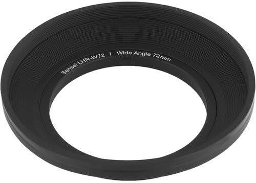 2 Pack Sensei 72mm Wide Angle Rubber Lens Hood